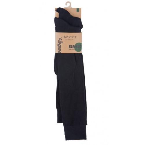 Kniekous van bamboe in het zwart 2 - pack