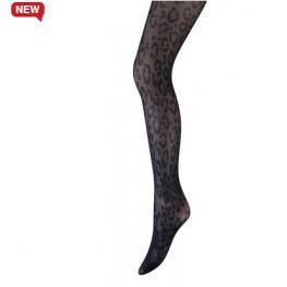 Panty by Marianne animal aanbieding zwart