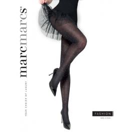 Dames panty zwart met strass steentjes