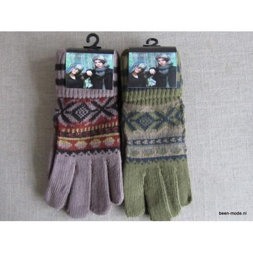 Dames vingerhandschoenen verschillende kleuren