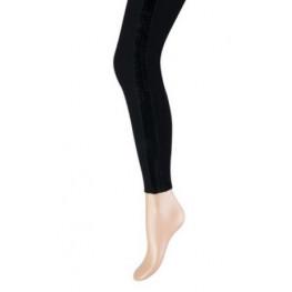 Dames lange legging met een zwart velvet bandje aan de zijkant
