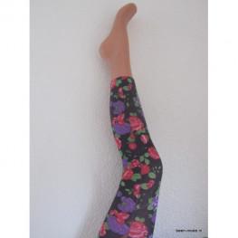Dames legging met grote bloemen