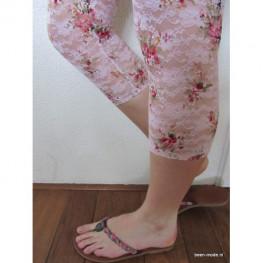 Kanten legging met bloemmotief