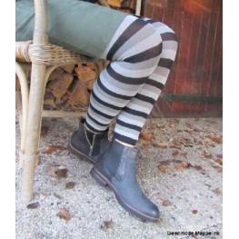 Legging met strepen