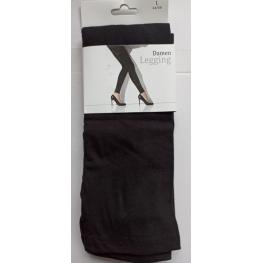 Lange zwarte legging katoen.