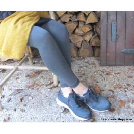 Dames thermo legging in zwart en antraciet