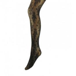 Marianne panty bloem met lurex