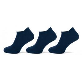 Dameskatoenen sneakersokjes 3 pak marine