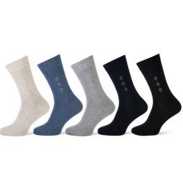 Heren sokken met klein motief aan de zijkant