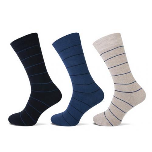 Heren sokken met een fijn streepje.