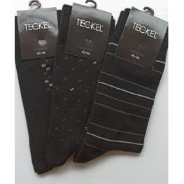 Heren sokken in het zwart met een werkje