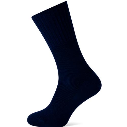 Herensokken zonder elastiek marineblauw