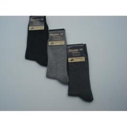 Katoenen heren sokken met badstof zool zonder voelbare teennaad 3 paar