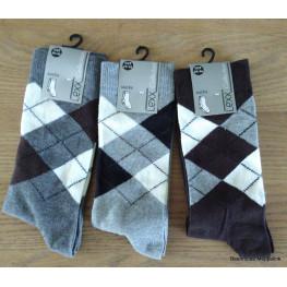 Heren sokken met een ruit.