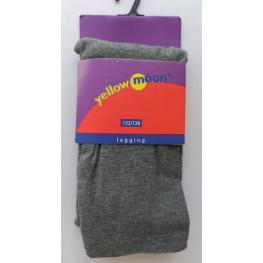 Kinder lange legging van katoen grijs
