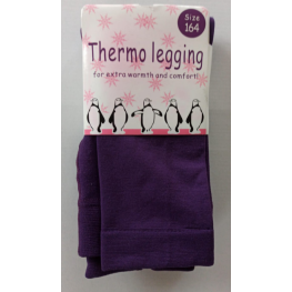 Kinder thermo legging paars.