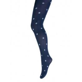 Kinderpanty met dotjes marineblauw/wit