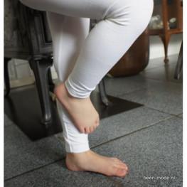 Kinder lange legging van katoen wit