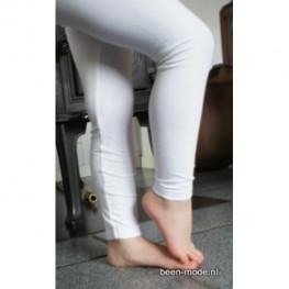 Kinder lange legging van katoen off white