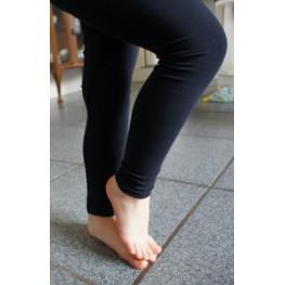 Kinder lange legging van katoen zwart