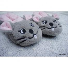 Kinder slof met muis gezichtje
