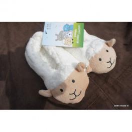 Kinder slof met schapen gezichtje