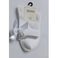 Witte sokken met een strik maat 21-34