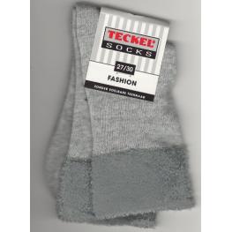 Meisjes sok met een bontrandje grijs