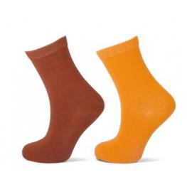 Effen sokken 2 - pack geel