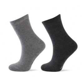 Effen sokken 2 - pack grijs