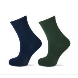 Effen sokken 2 -  pack 1 groen / 1 navy