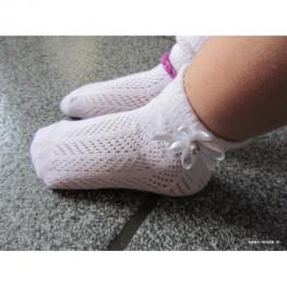 Ajour sokje voor meisjes wit